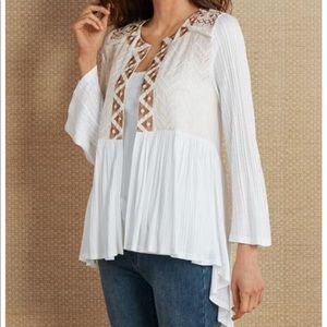 Soft Surroundings Anjali Embroidered Cardigan XL